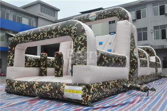 Giant Boot Camp Assault Challenging Inflatable Bounce House Obstacle Course